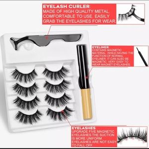 4 pairs magentic  lashes with liner and glue